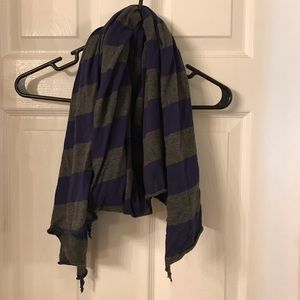Blue and gray striped Aeropostale scarf